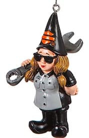 3OT1902GMD Female Mechanic Gnome Ornament