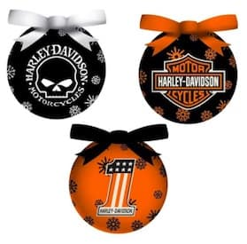 3OT4900LED Harley LED Light Up Ornament Set