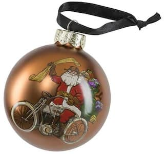 HDX-99194 Harley Santa Ball Ornament
