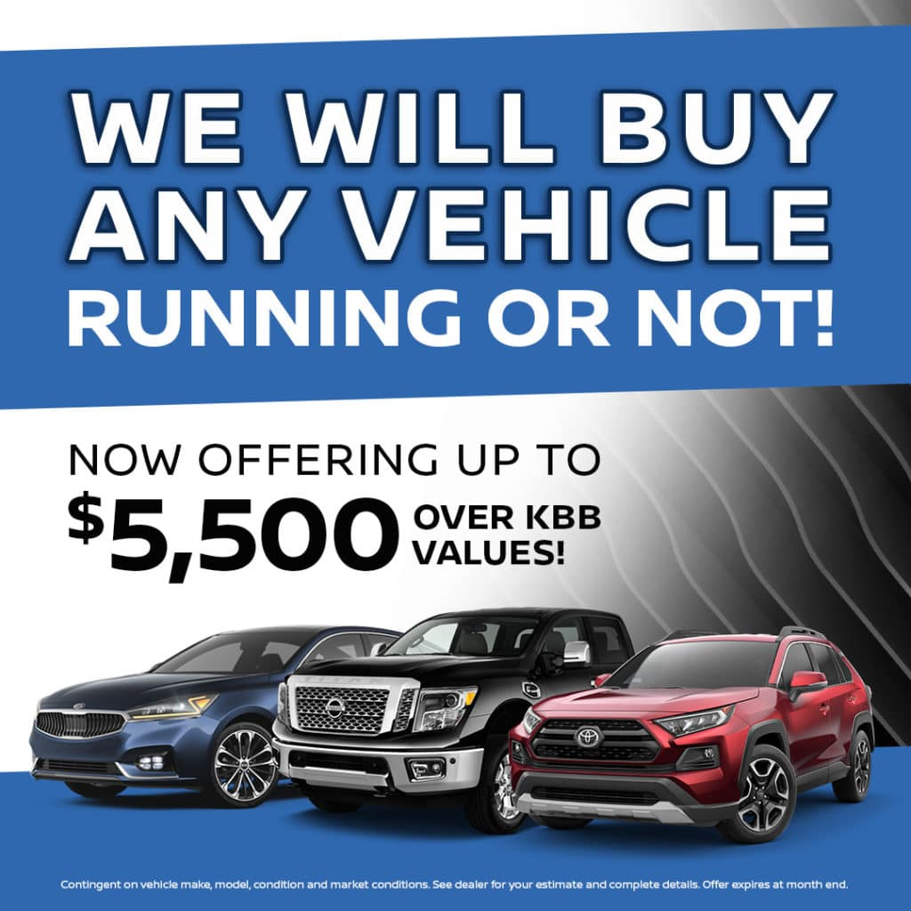 We Will Buy Any Vehicle