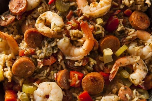 cajun food - jambalaya