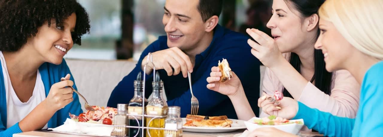 friends eating together