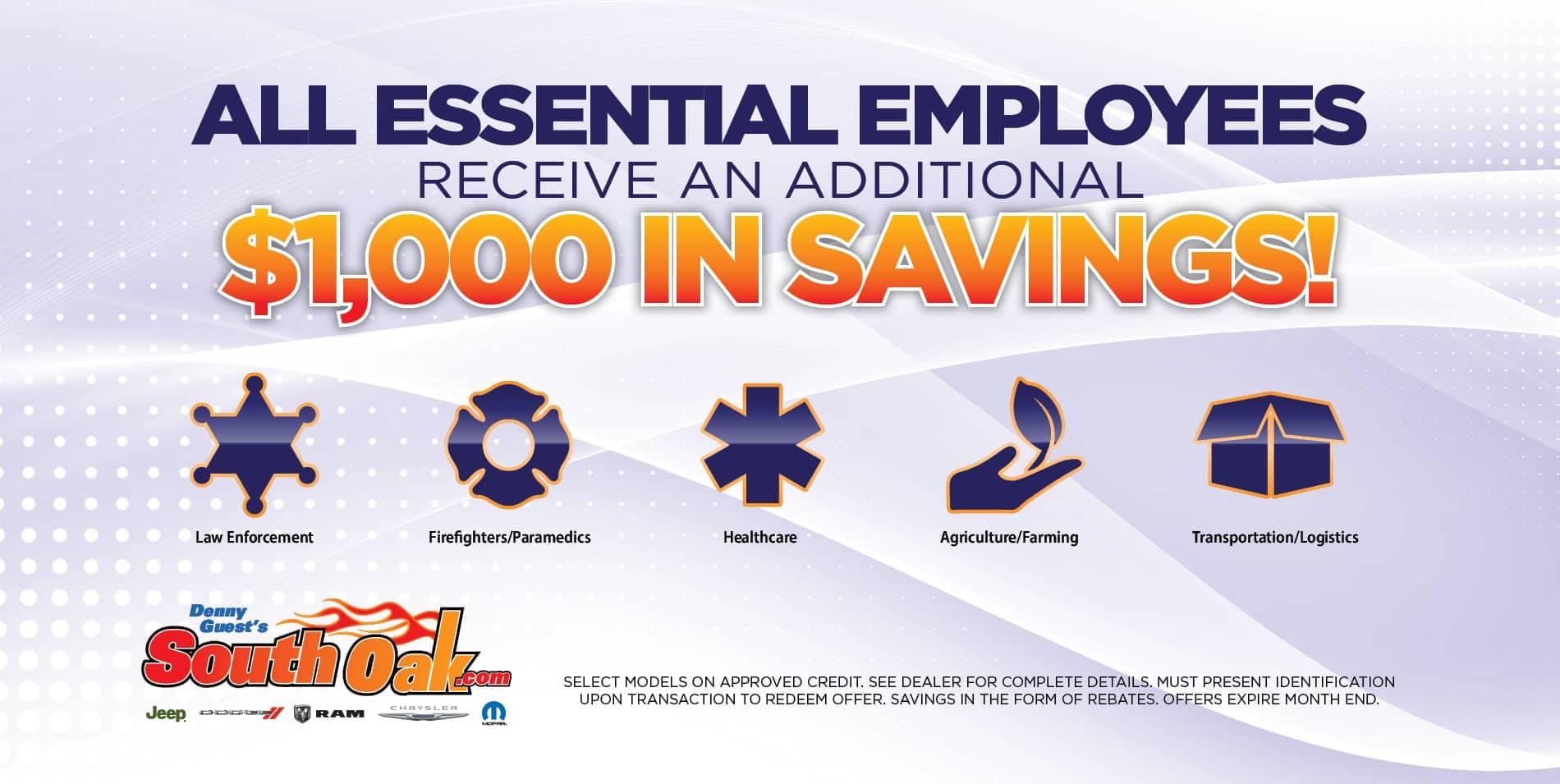 Essential Employee Savings