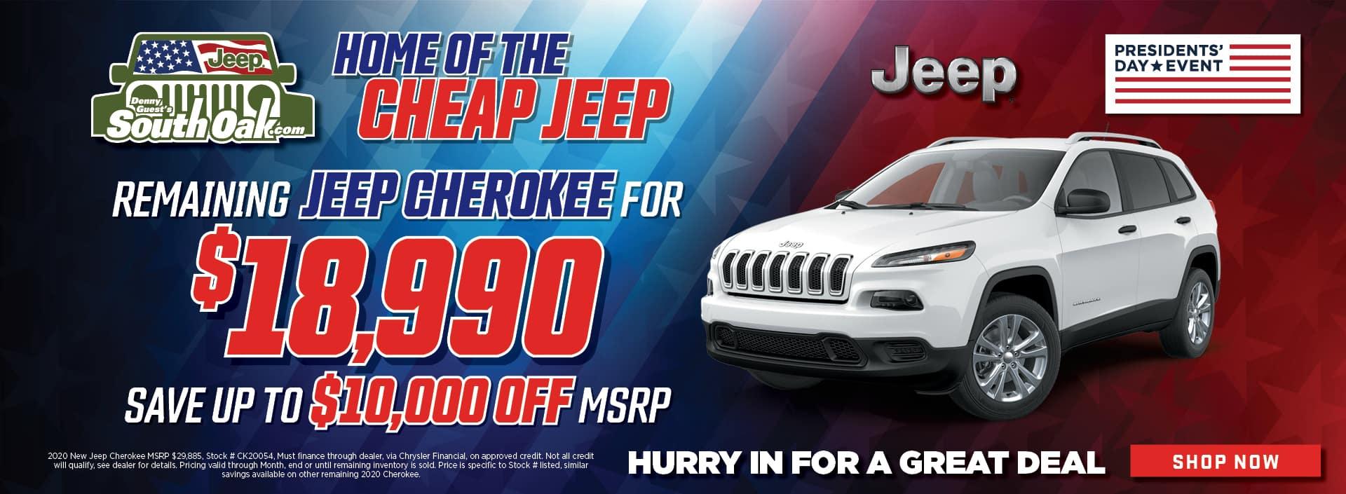 10,000 Off Jeep Cherokee Sale