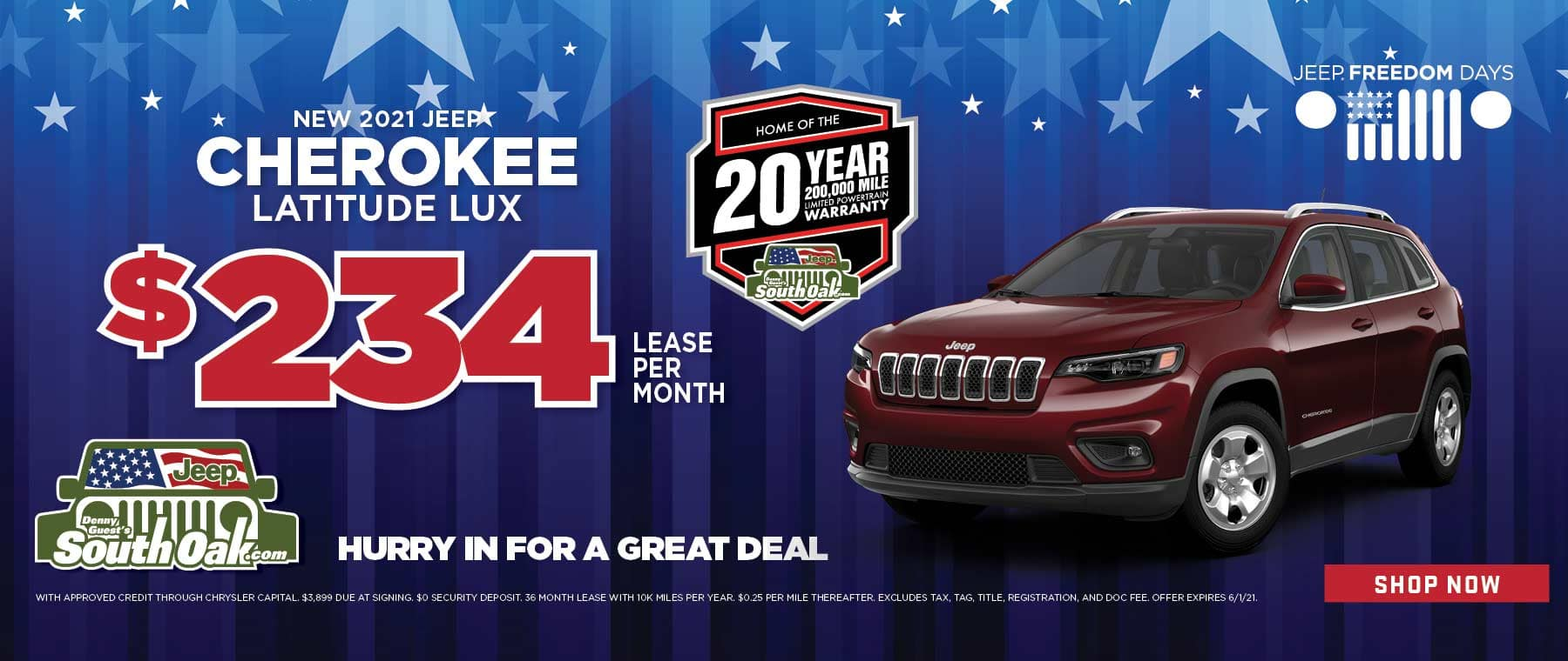2021 Jeep Cherokee Lease Deal