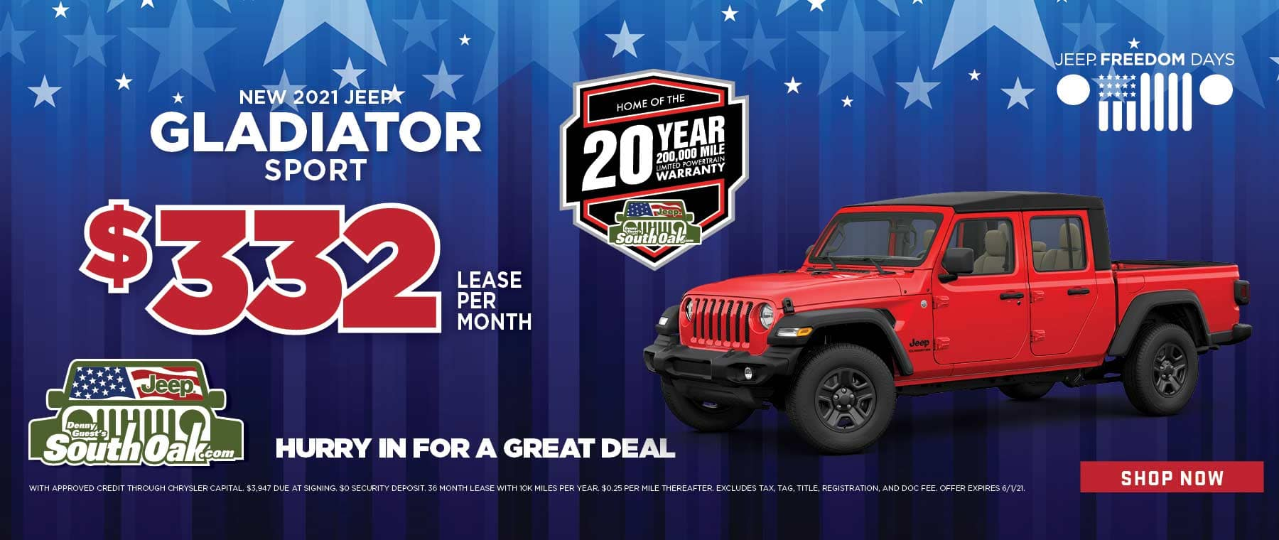 2021 Jeep Gladiator Sport Lease Deal