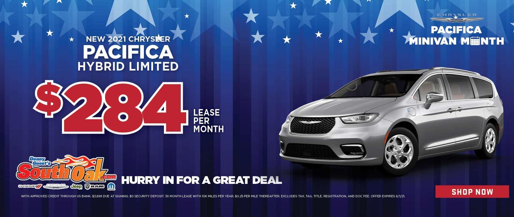 2021 Chrysler Pacifica Hybrid Lease Deal