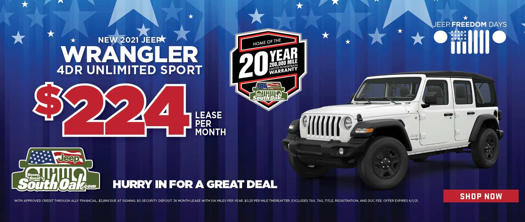 2021 Jeep Wrangler Unlimited Sport deal