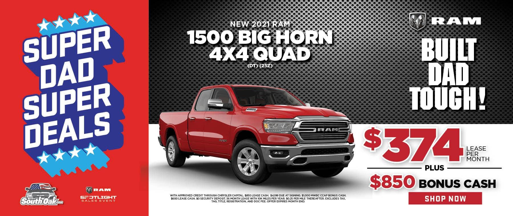 2021 RAM 1500 Big Horn Lease Deal