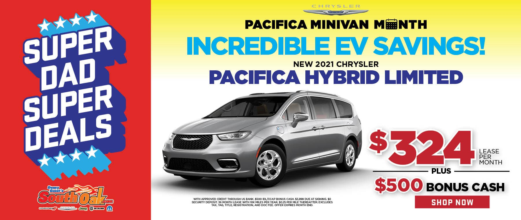 2021 Chrysler Pacifica Lease Offer