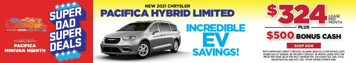 Chrysler Pacifica Hybrid Limited Lease Special