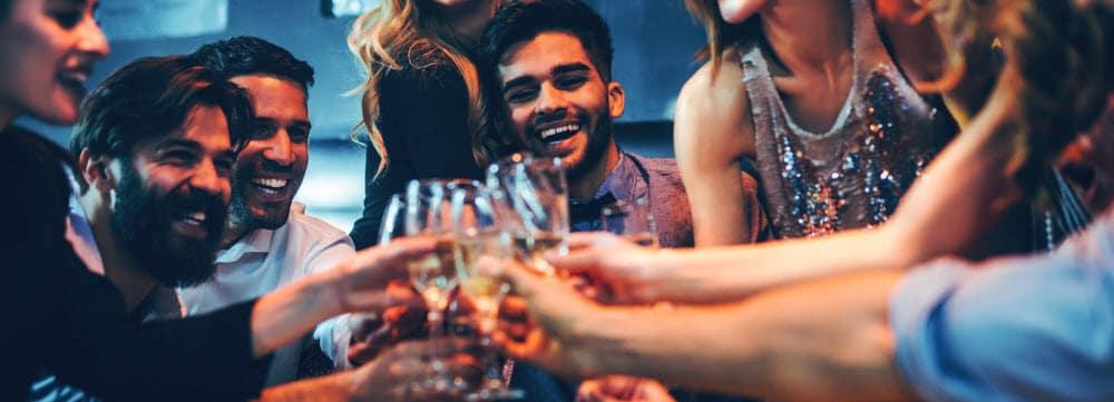Group of Friends enjoying drinks
