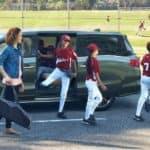 2021 Honda Odyssey towing banner with kids baseball team