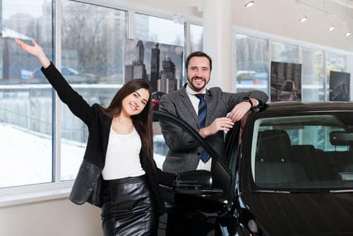 happy new car buyers
