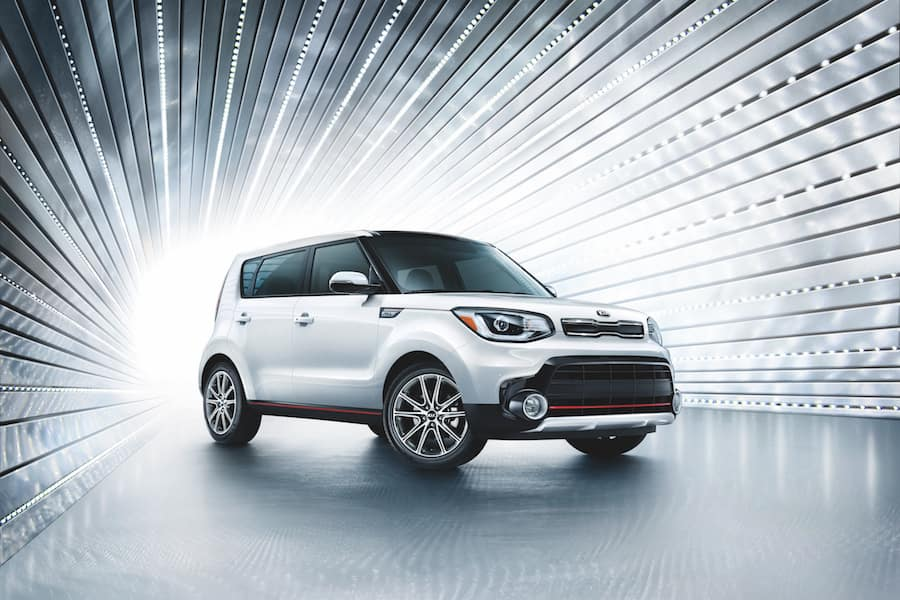 Kia Soul under the lights