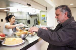 Feeding the Homeless near The Kia Store Louisville KY