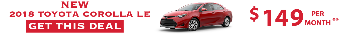 2018 Toyota Corolla Specials