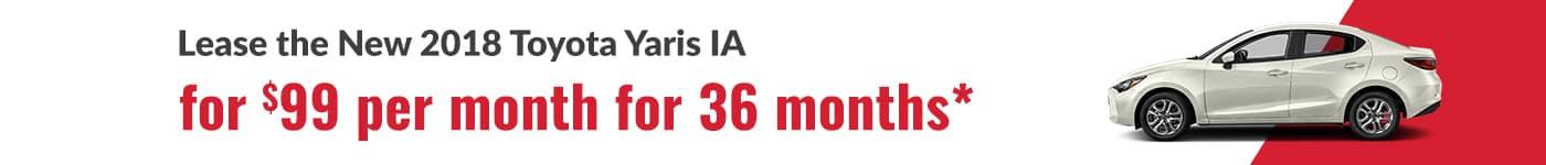 New Toyota Yaris IA Special