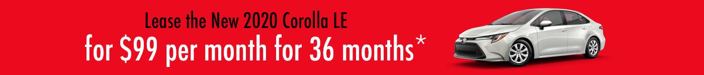 Toyota Corolla lease specials