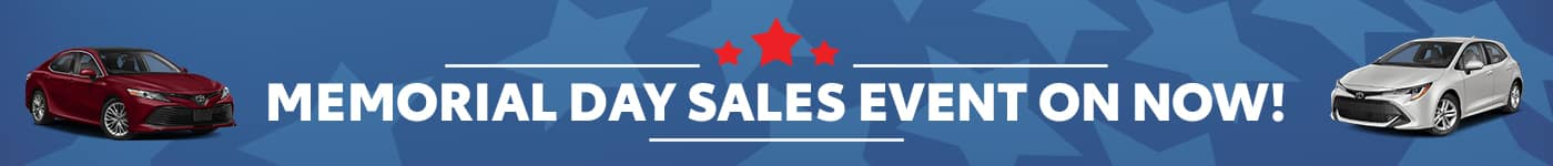 Memorial DAY Toyota Sales