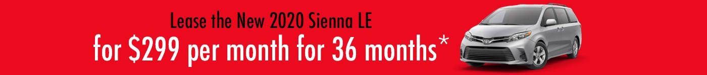 Toyota Sienna specials