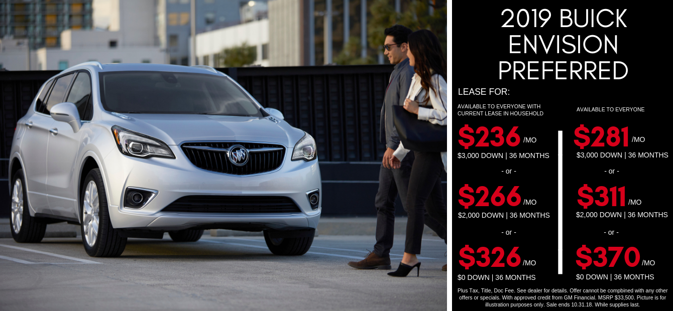Buick Envision Lease Specials