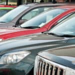 Used cars lined up