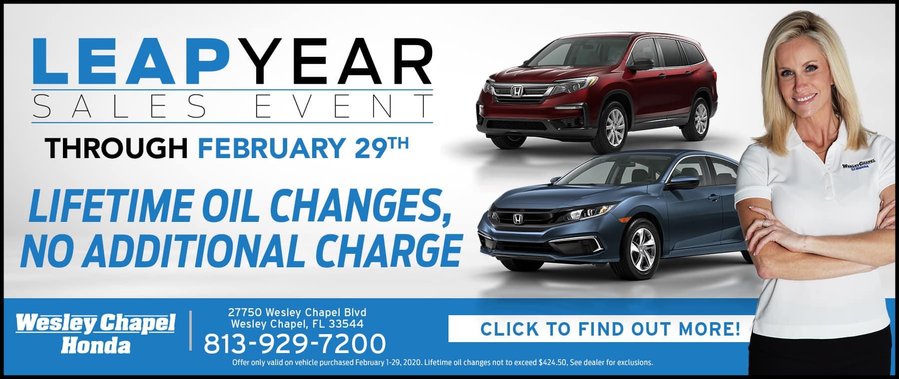 Wesley Chapel Honda Leap Years Sales Event