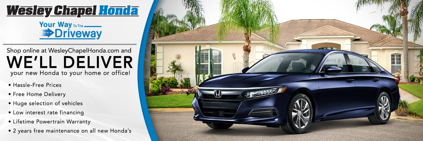Shop online and we'll deliver your new Honda to your home or office!