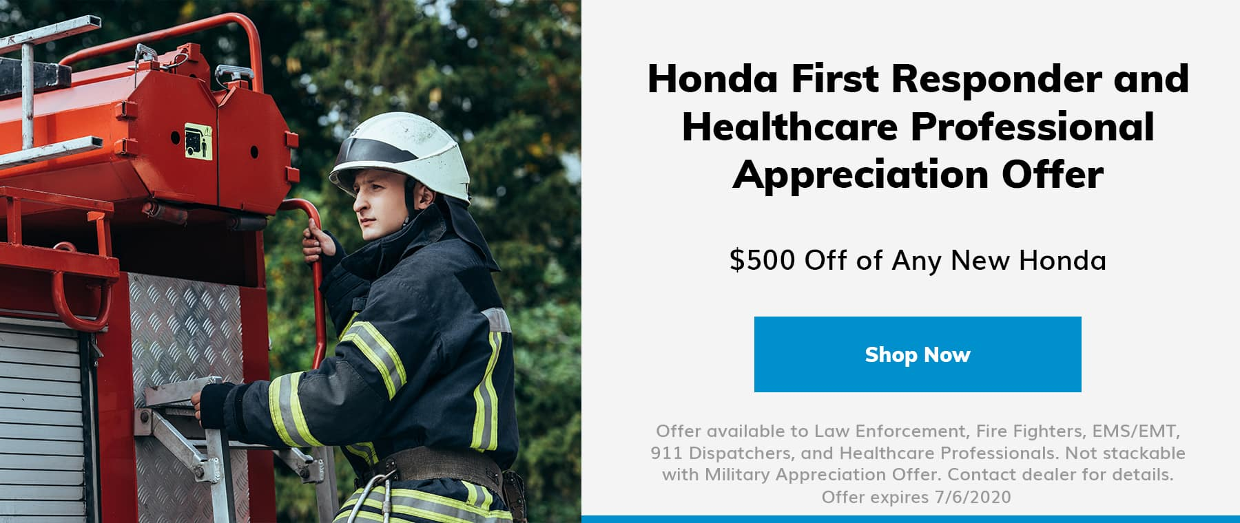 Service Offer - First Responders