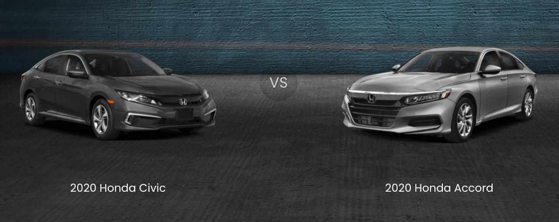 2020 Honda CIvic vs honda accord comparison banner