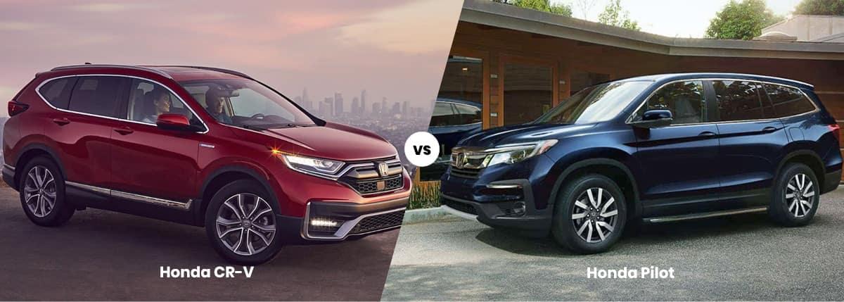 2021 Honda CR-V vs Honda Pilot Comparison Banner
