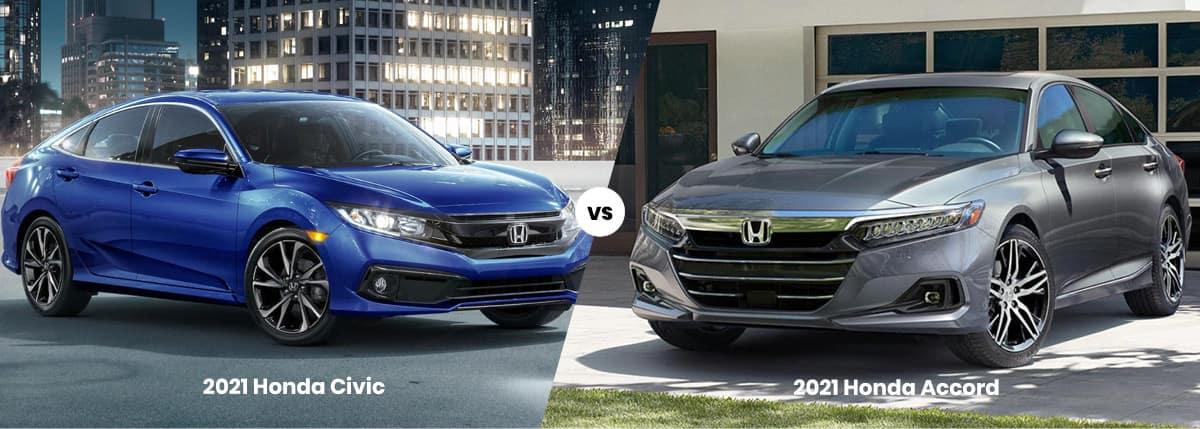 2021 Honda Civic vs Honda Accord Comparison Banner