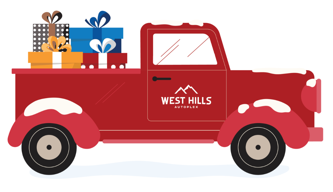Red Truck Filled With Presents