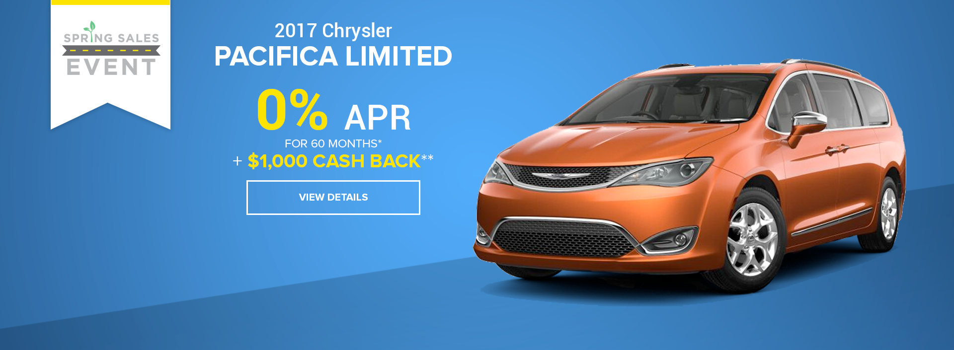 West Hills CJD Chrysler Pacifica Special Offer