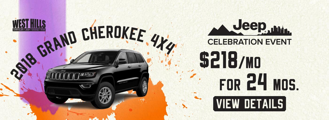 2018 Jeep Grand Cherokee 4x4 $218/mo. For 24 mos.*