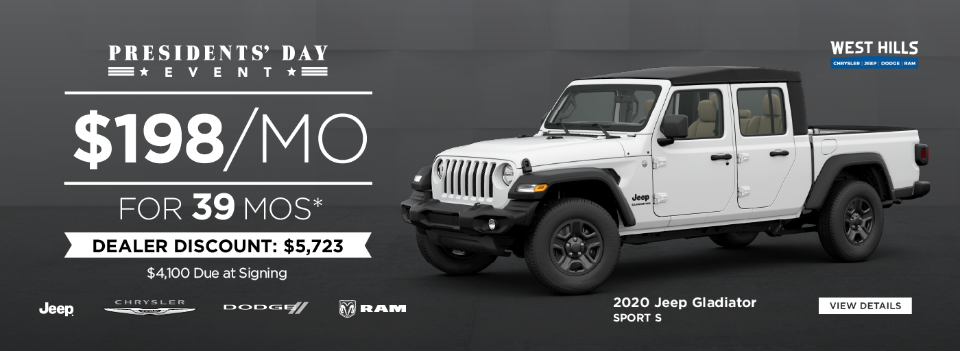 2019 Jeep Cherokee Latitude Plus 4x4 0% for 60 mos.*  PLUS $8,000 OFF of MSRP *Offer valid on 2019 Jeep Cherokee Latitude Plus 4x4. 0% for 60 mos. Based on MSRP $33,775. WHCJDR Discount: $6,000. Rebate: $2,000. Sale Price: $25,775. VIN: 1C4PJMLX8KD418734. Subject to credit approval. Based on approval of program ID 70AK3C, 70CK3C, 43CKP1, 43CKP2, 43CKP3, 43CKP4, 28HKA. Down payment and monthly payment may vary. 60 months at $13.89 per $1,000 financed. Excludes state and local taxes, tags, registration and title, insurance and dealer charges.  A negotiable dealer documentary service fee of up to $150 may be added to the sale price or capitalized cost. Offer expires: 12/2/2019.2019 Jeep Cherokee Latitude Plus 4x4 0% for 60 mos.*  PLUS $8,000 OFF of MSRP *Offer valid on 2019 Jeep Cherokee Latitude Plus 4x4. 0% for 60 mos. Based on MSRP $33,775. WHCJDR Discount: $6,000. Rebate: $2,000. Sale Price: $25,775. VIN: 1C4PJMLX8KD418734. Subject to credit approval. Based on approval of program ID 70AK3C, 70CK3C, 43CKP1, 43CKP2, 43CKP3, 43CKP4, 28HKA. Down payment and monthly payment may vary. 60 months at $13.89 per $1,000 financed. Excludes state and local taxes, tags, registration and title, insurance and dealer charges.  A negotiable dealer documentary service fee of up to $150 may be added to the sale price or capitalized cost. Offer expires: 12/2/2019.