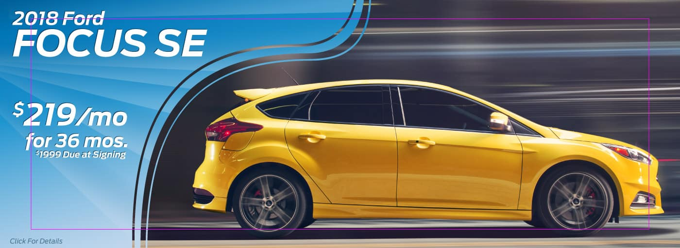 2018 ford Focus SE $219/mo for 36 mos
