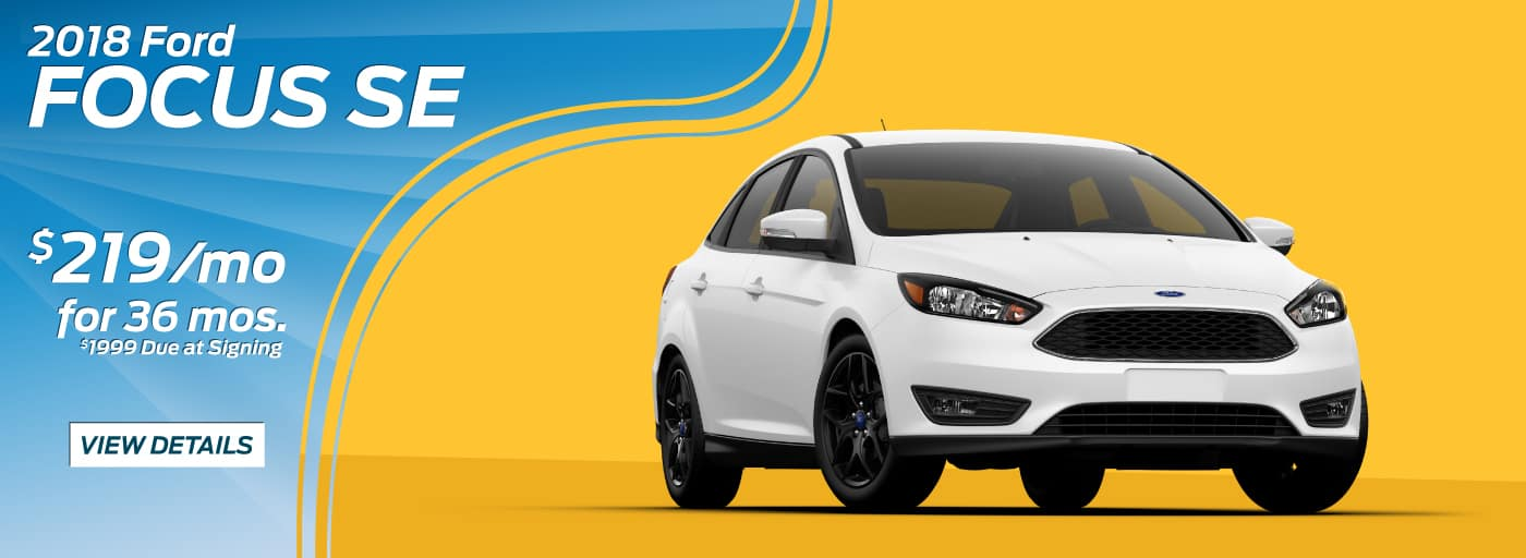2018 Ford Focus SE FWD  $219/mo for 39 mos.*