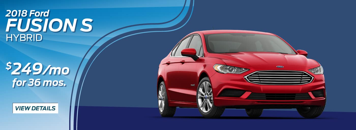 2018 Ford Fusion S Hybrid  $249/mo. for 36 mos.*