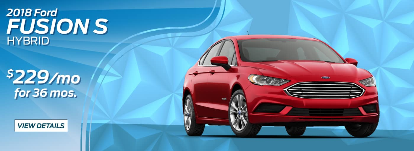 2018 Ford Fusion S Hybrid  $229/mo. for 36 mos.*
