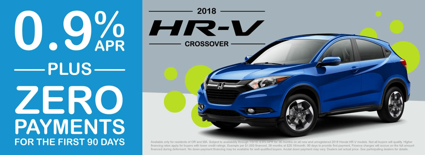 HR-V Lease/APR – 90 Days to First Payment