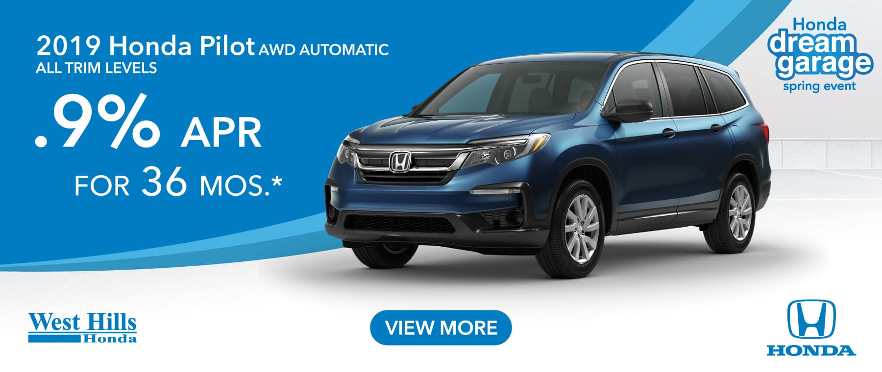 2019 Honda Pilot AWD Automatic All Trims (Featured Vehicle)  .9% for 36 mos. *
