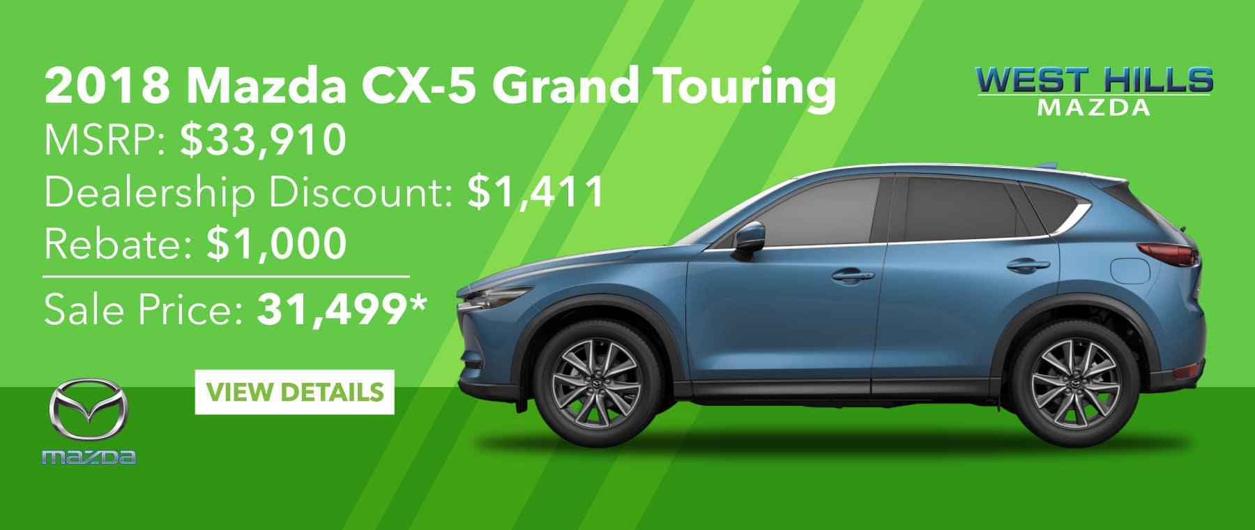 2018 Mazda CX-5 Grand Touring  0% APR for 60 mos.*