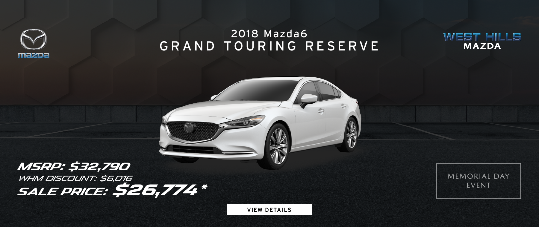 2018 Mazda6 Grand Touring Reserve 12% OFF of MSRP*