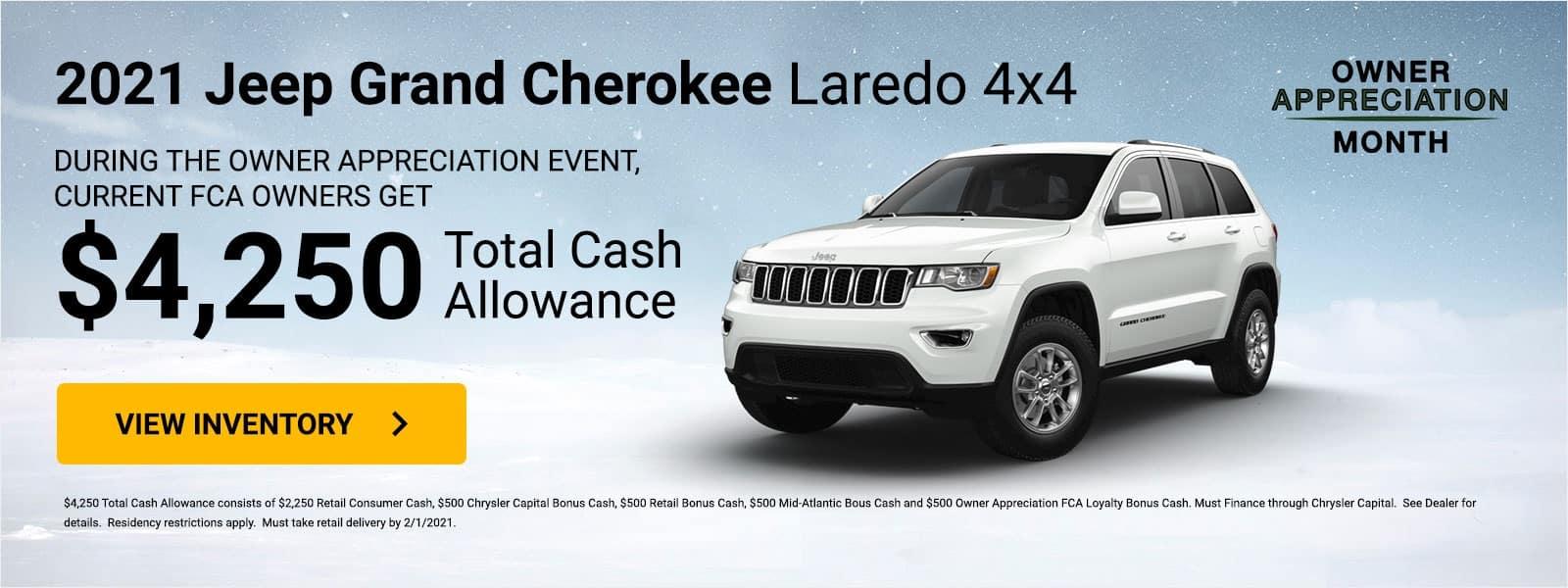 jeep-grand-cherokee-laredo-4×4 RETAIL (MD,VA,WV ONLY)