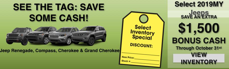 10 Days to Deal - Jeep Bonus Cash!
