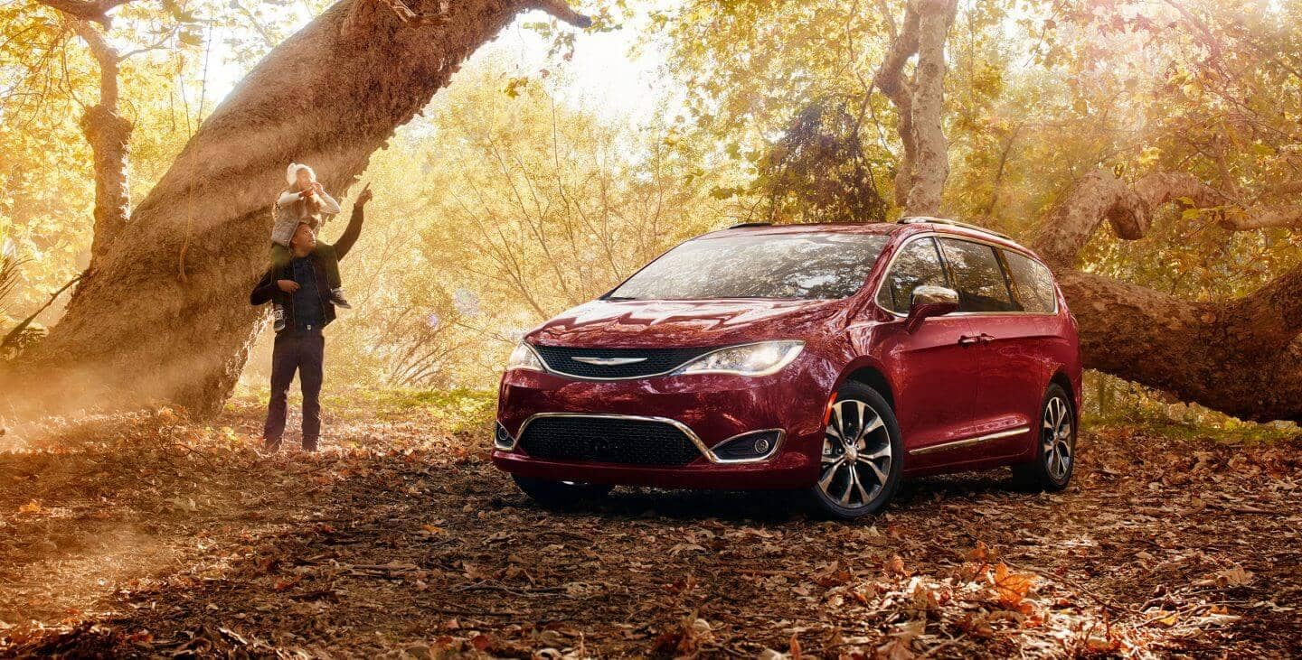 2018 Chrysler Pacifica parked in forest