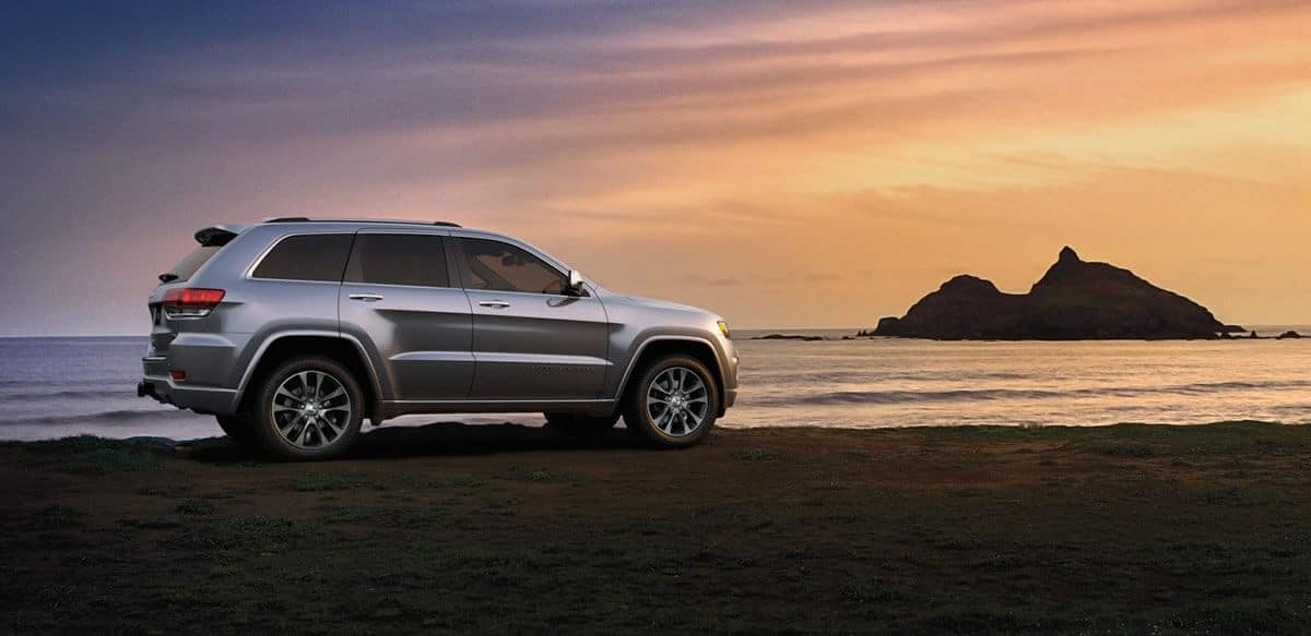 2018 Jeep Grand Cherokee on the beach